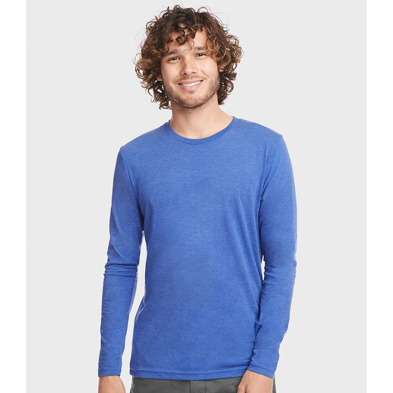 Next Level Unisex Long Sleeve Tri-Blend Crew T-Shirt