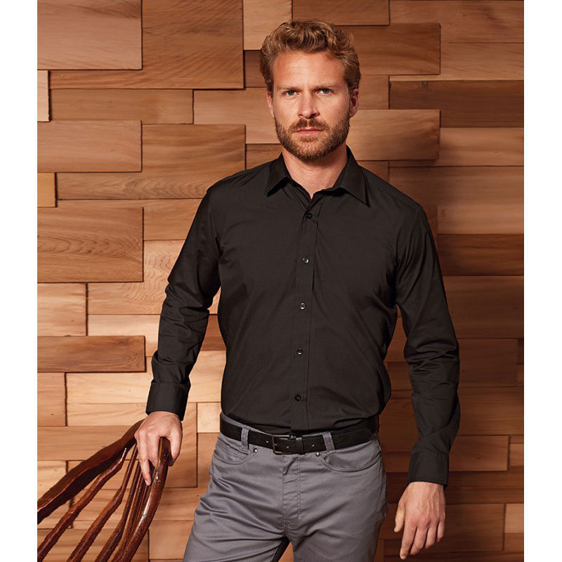 Premier Long Sleeve Fitted Poplin Shirt