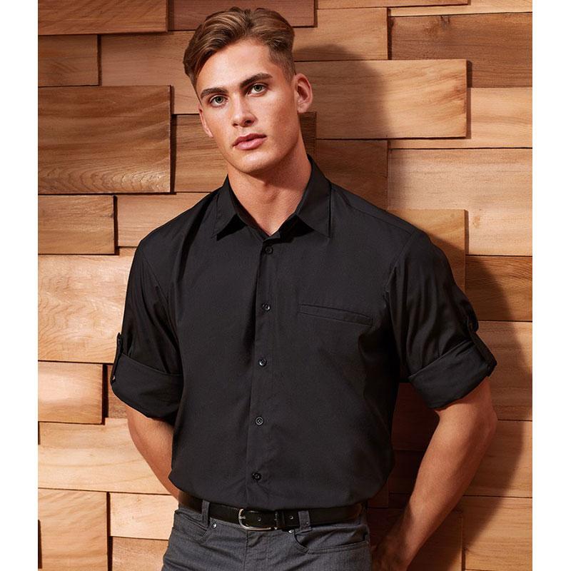Premier Roll Sleeve Poplin Shirt