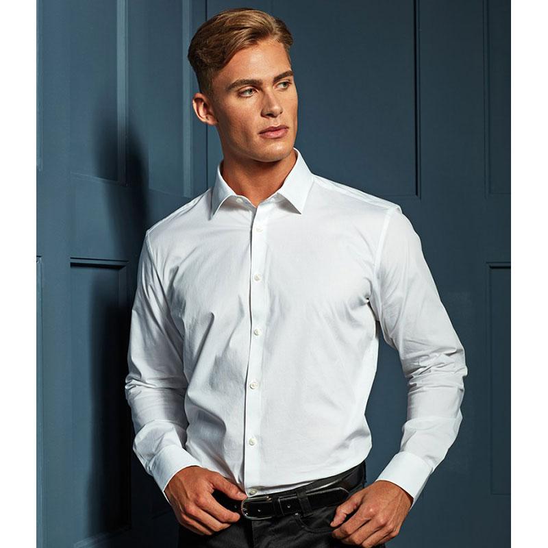 Premier Long Sleeve Stretch Fit Poplin Shirt