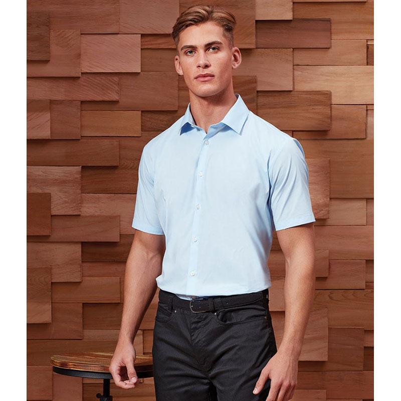 Premier Short Sleeve Stretch Fit Poplin Shirt