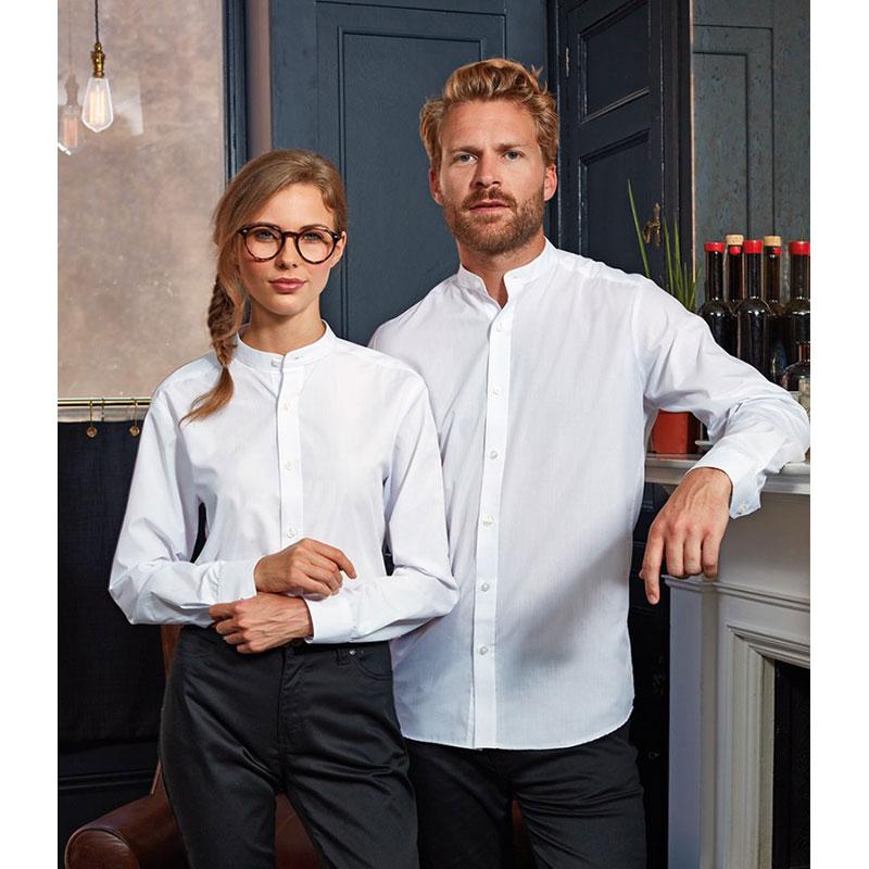 Premier Unisex Long Sleeve Grandad Shirt