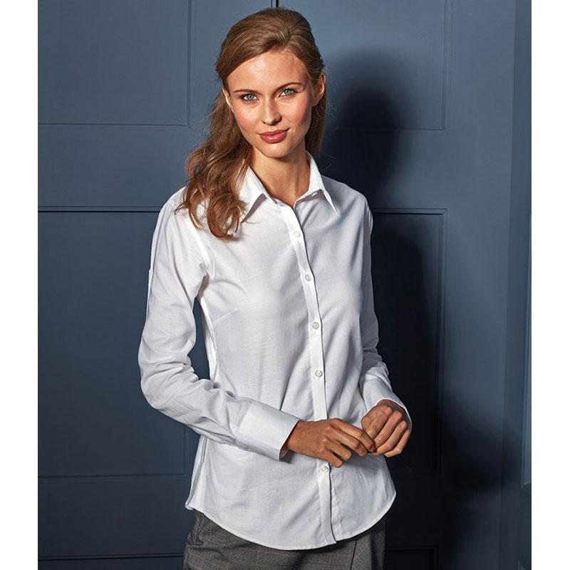 Premier Ladies Signature Long Sleeve Oxford Shirt