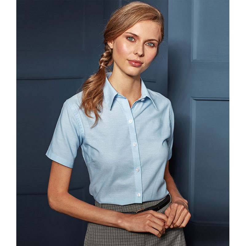Premier Ladies Signature Short Sleeve Oxford Shirt