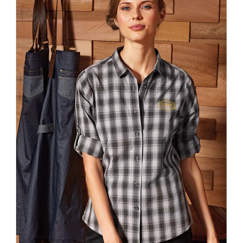 Premier Ladies Mulligan Check Long Sleeve Shirt