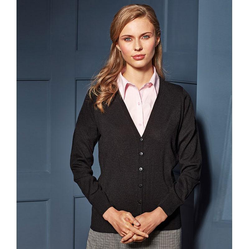Premier Ladies Essential Acrylic V Neck Cardigan