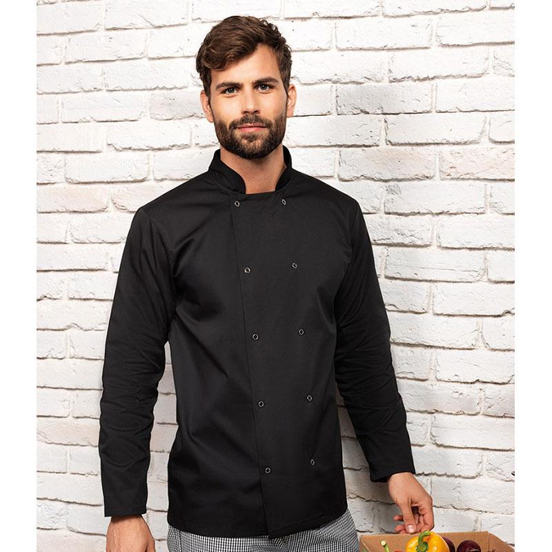Premier Unisex Long Sleeve Stud Front Chef's Jacket