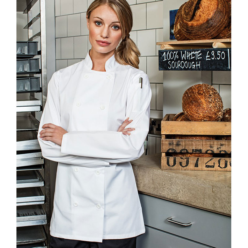 Premier Ladies Long Sleeve Chef's Jacket