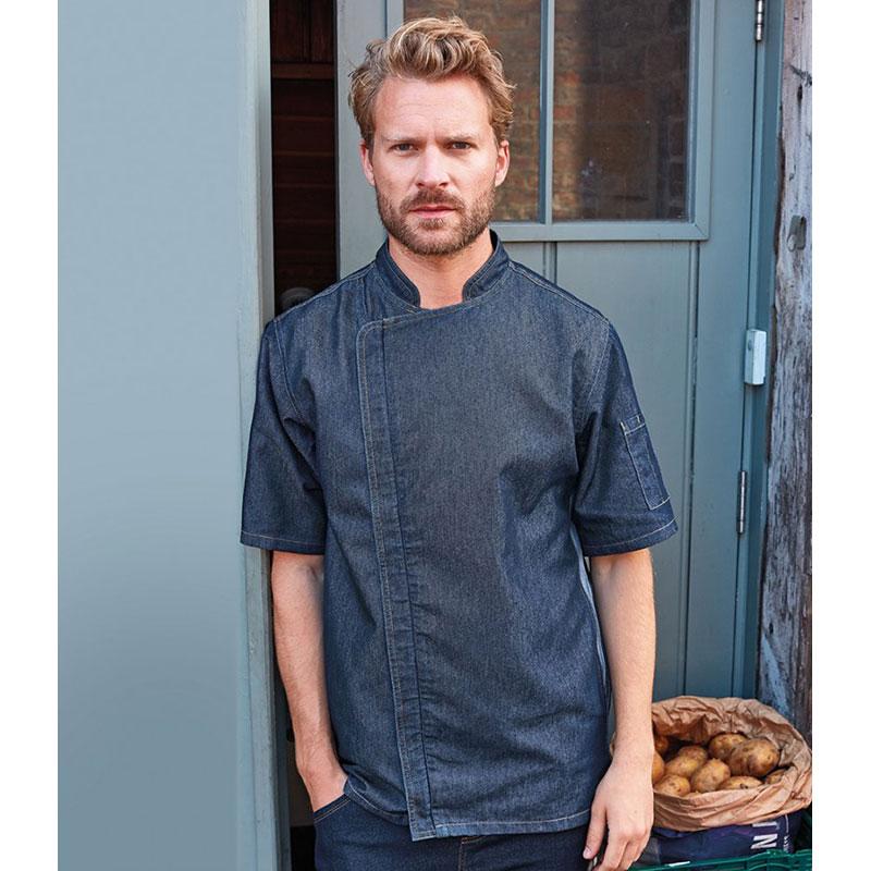 Premier Short Sleeve Zipped Chef's Jacket