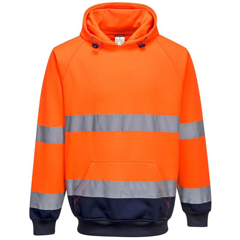 Portwest Hi-Vis Two Tone Hooded Sweatshirt