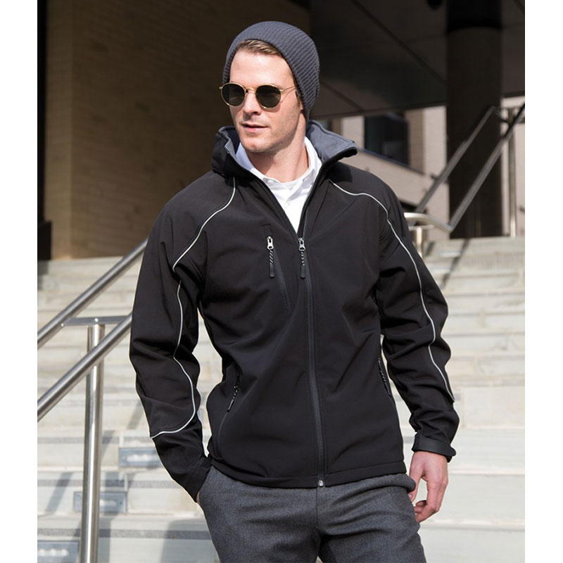 Result Work-Guard Hooded Soft Shell Jacket