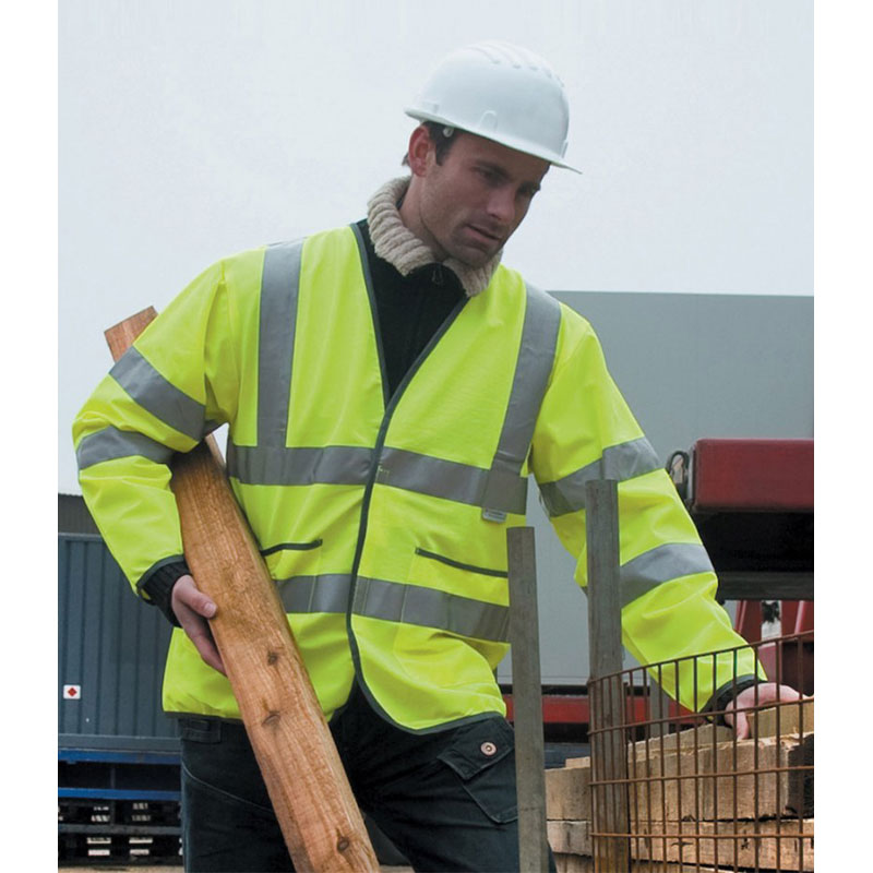 Result Safe-Guard Lightweight Hi-Vis Motorway Safety Jacket