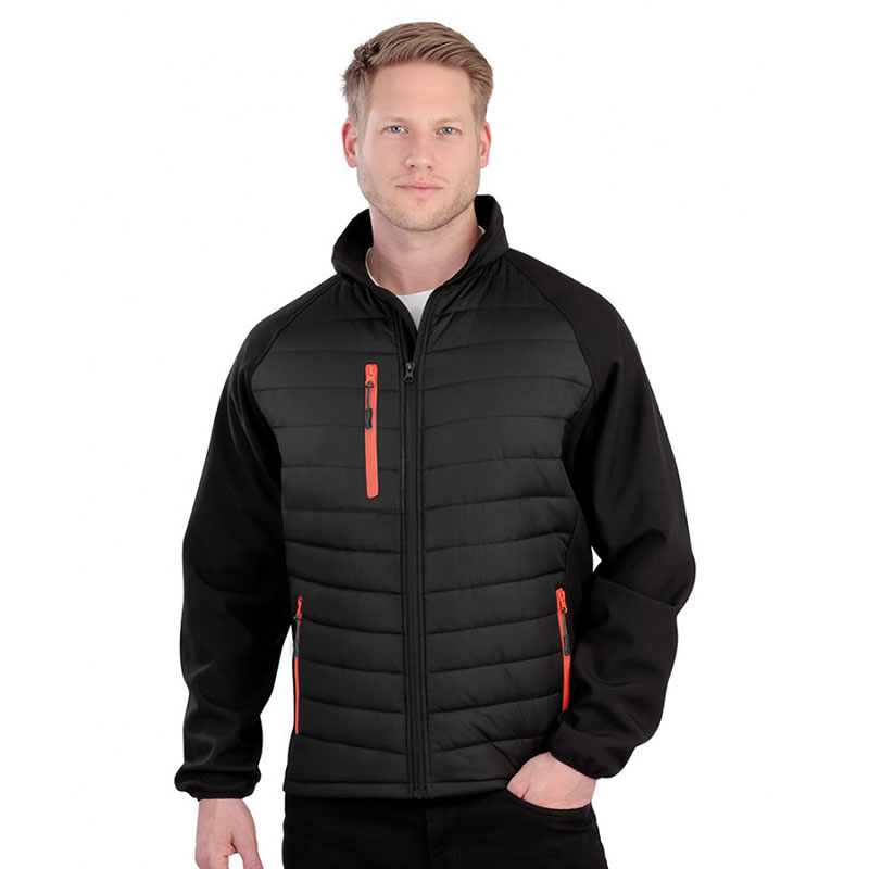 Result Genuine Recycled Black Compass Padded Jacket
