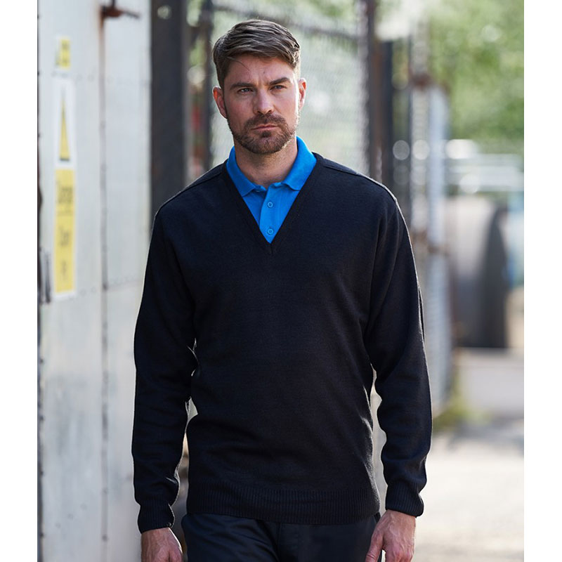 Pro RTX Pro Acrylic V Neck Sweater