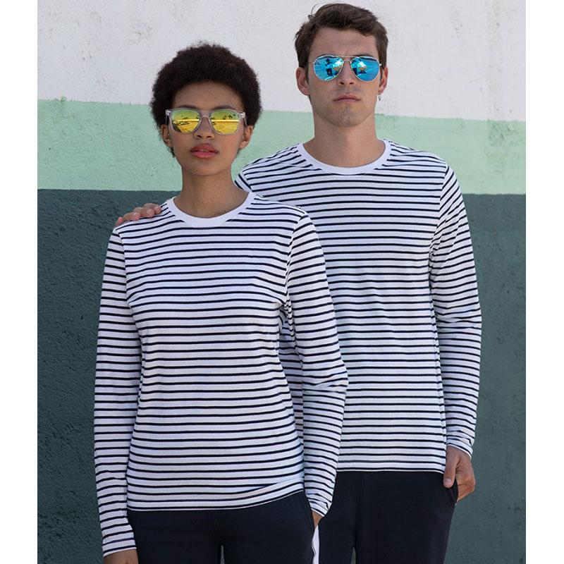 SF Unisex Long Sleeve Striped T-Shirt