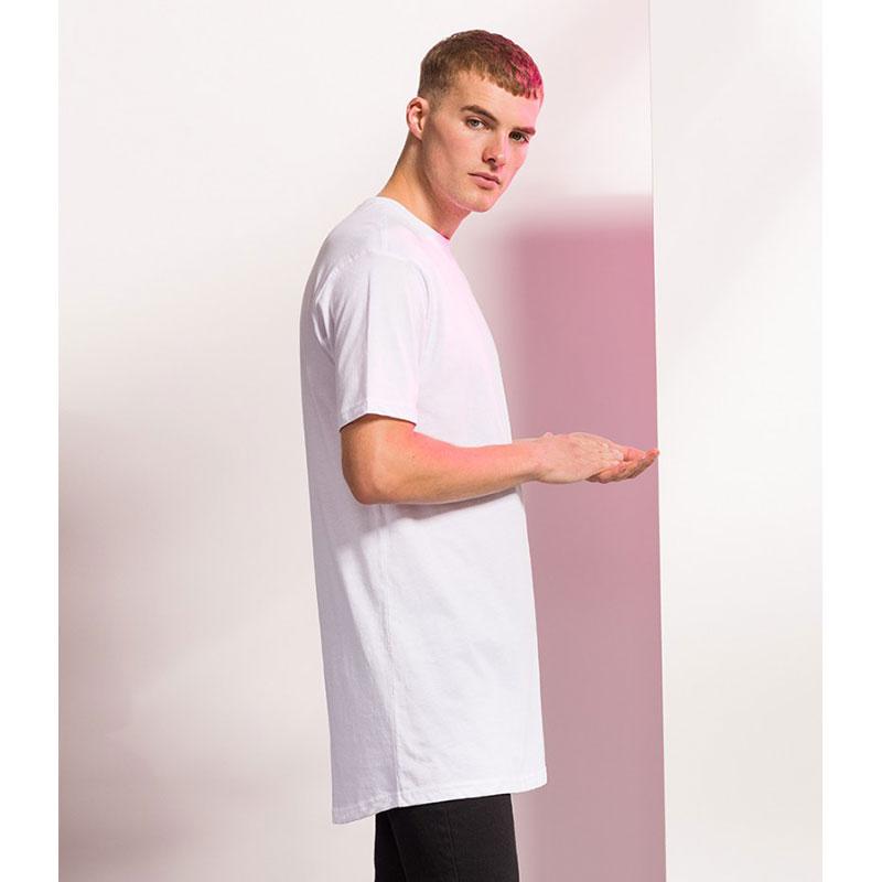 SF Men Longline Dipped Hem T-Shirt