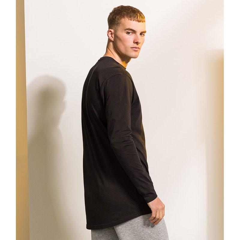 SF Men Long Sleeve Longline T-Shirt