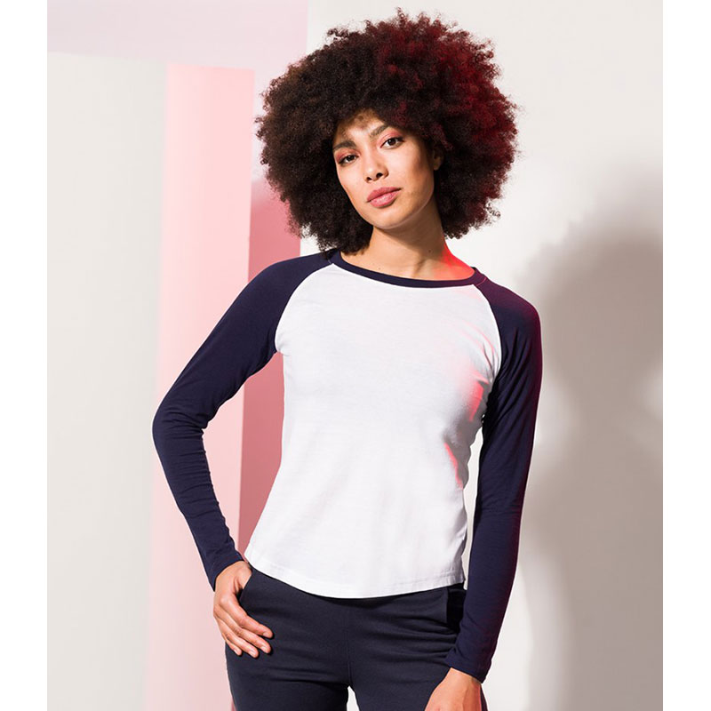 SF Ladies Long Sleeve Baseball T-Shirt