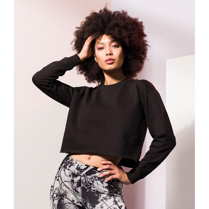 SF Ladies Cropped Slounge Sweatshirt