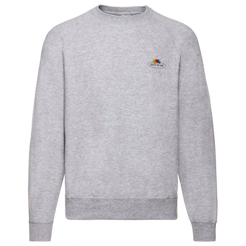 Fruit of the Loom Vintage Small Logo Raglan Sweatshirt