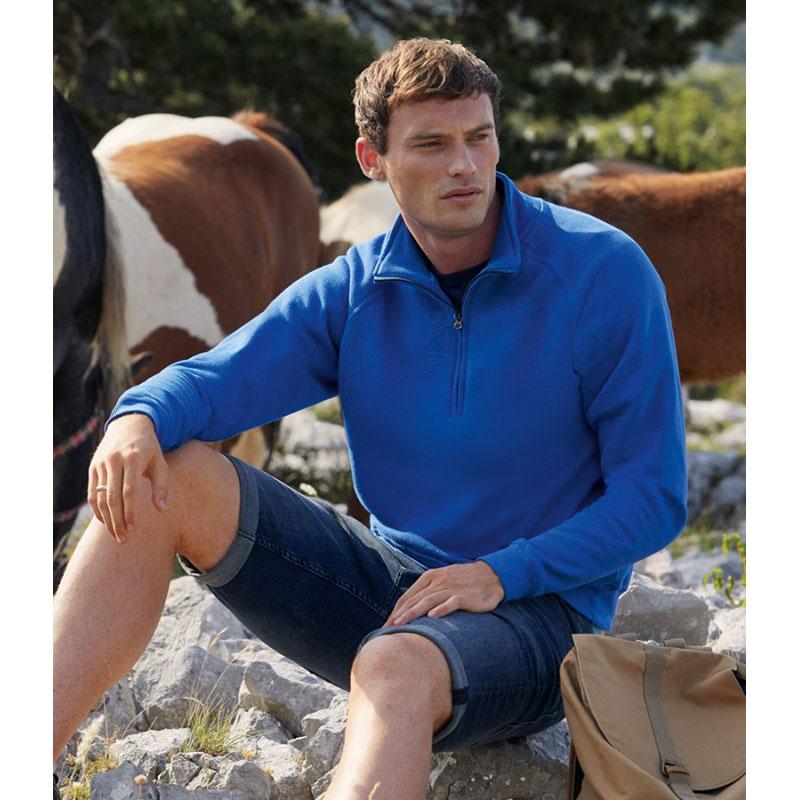 Fruit of the Loom Classic Zip Neck Sweatshirt