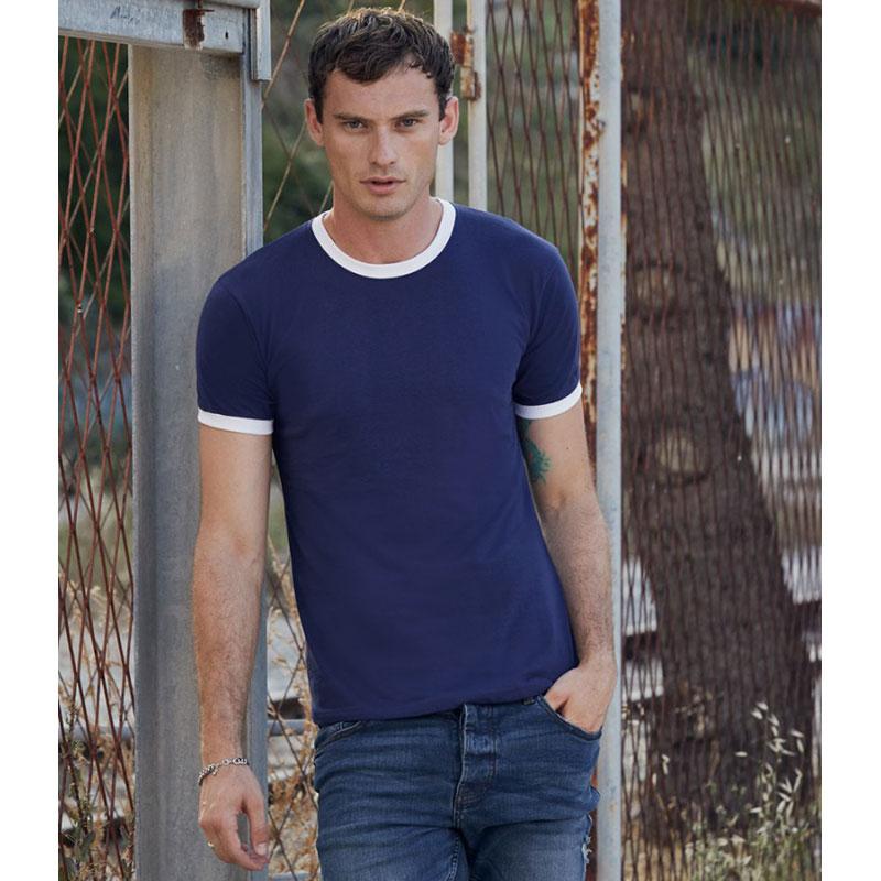 Fruit of the Loom Contrast Ringer T-Shirt