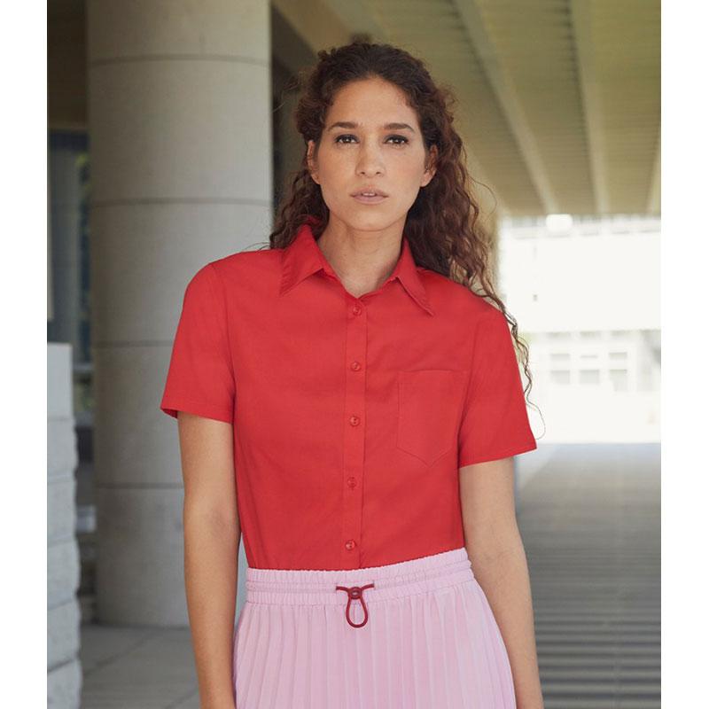 Fruit of the Loom Lady Fit Short Sleeve Poplin Shirt