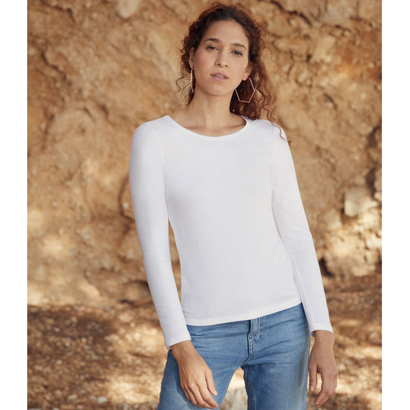 Fruit of the Loom Lady Fit Value Long Sleeve T-Shirt