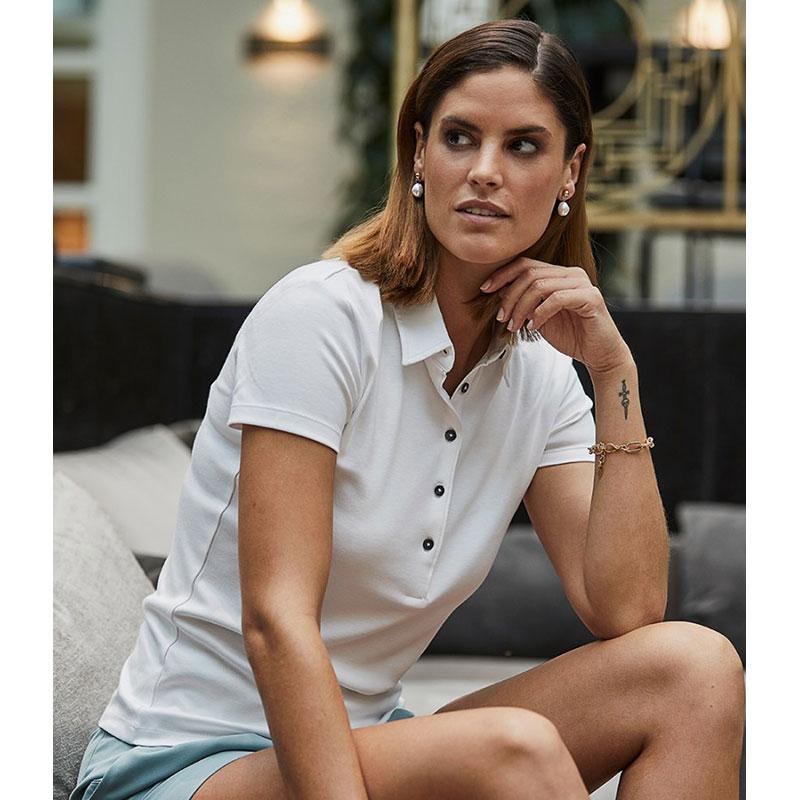 Tee Jays Ladies Pima Cotton Interlock Polo Shirt