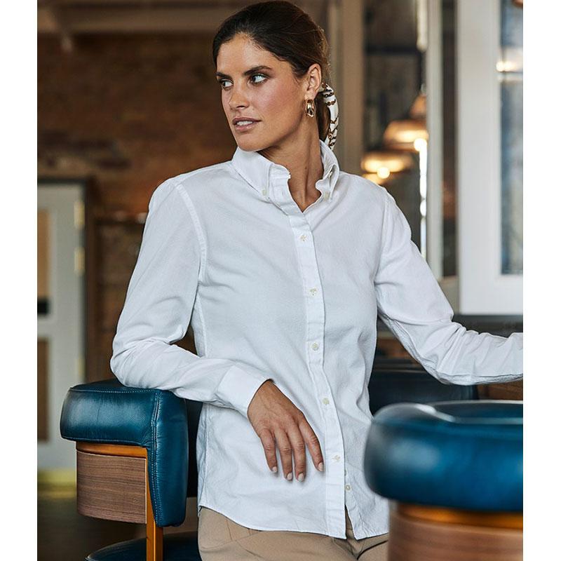 Tee Jays Ladies Perfect Long Sleeve Oxford Shirt