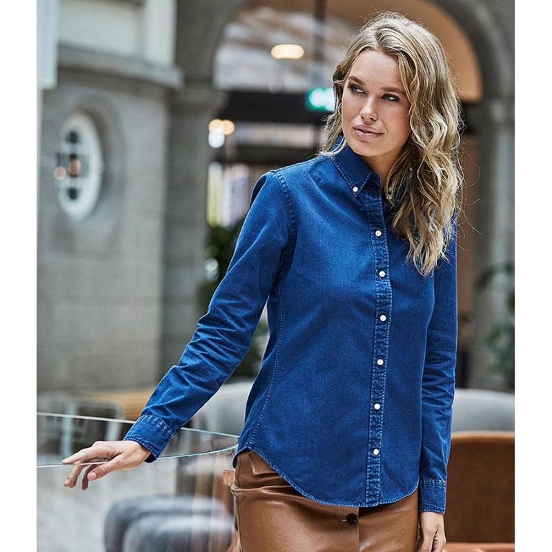 Tee Jays Ladies Long Sleeve Casual Twill Shirt