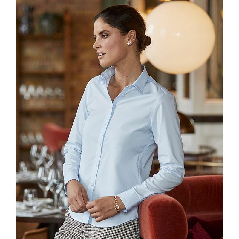 Tee Jays Ladies Stretch Luxury Long Sleeve Poplin Shirt
