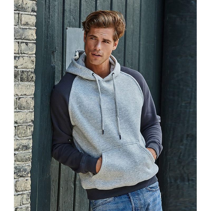 Tee Jays Two Tone Raglan Hooded Sweatshirt