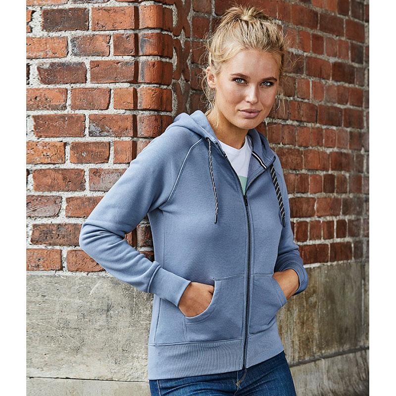 Tee Jays Ladies Fashion Zip Hooded Sweatshirt