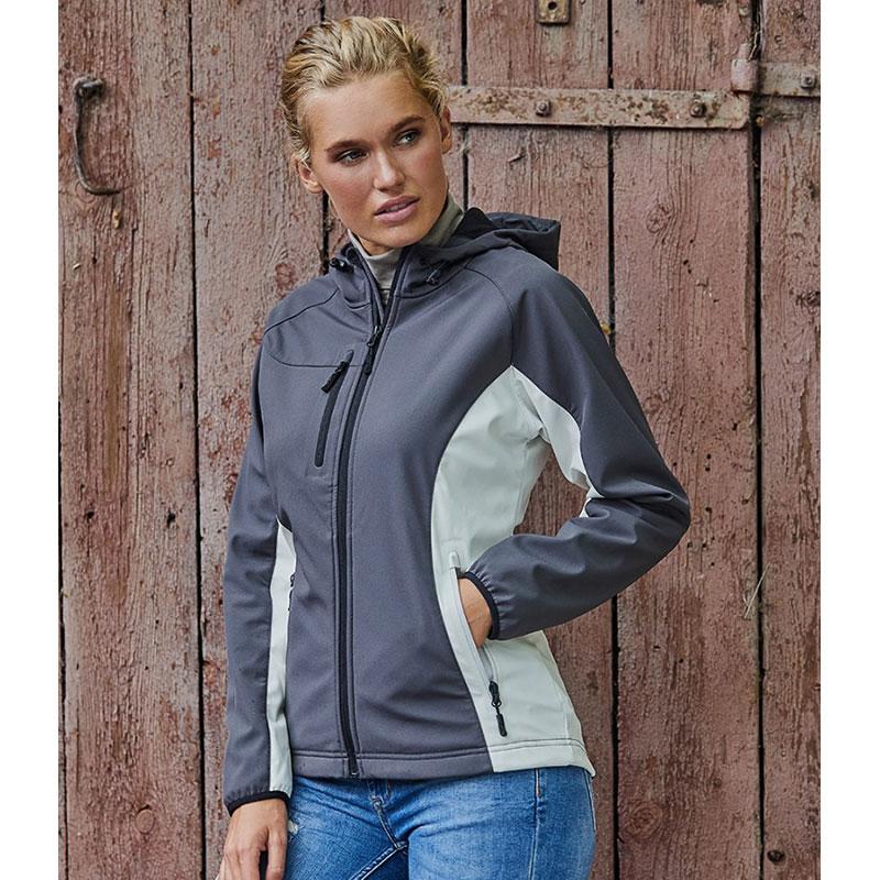 Tee Jays Ladies Lightweight Performance Hooded Soft Shell Jacket