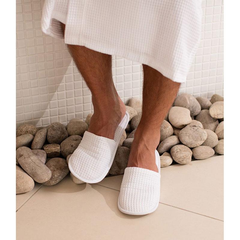 Towel City Waffle Mule Slippers