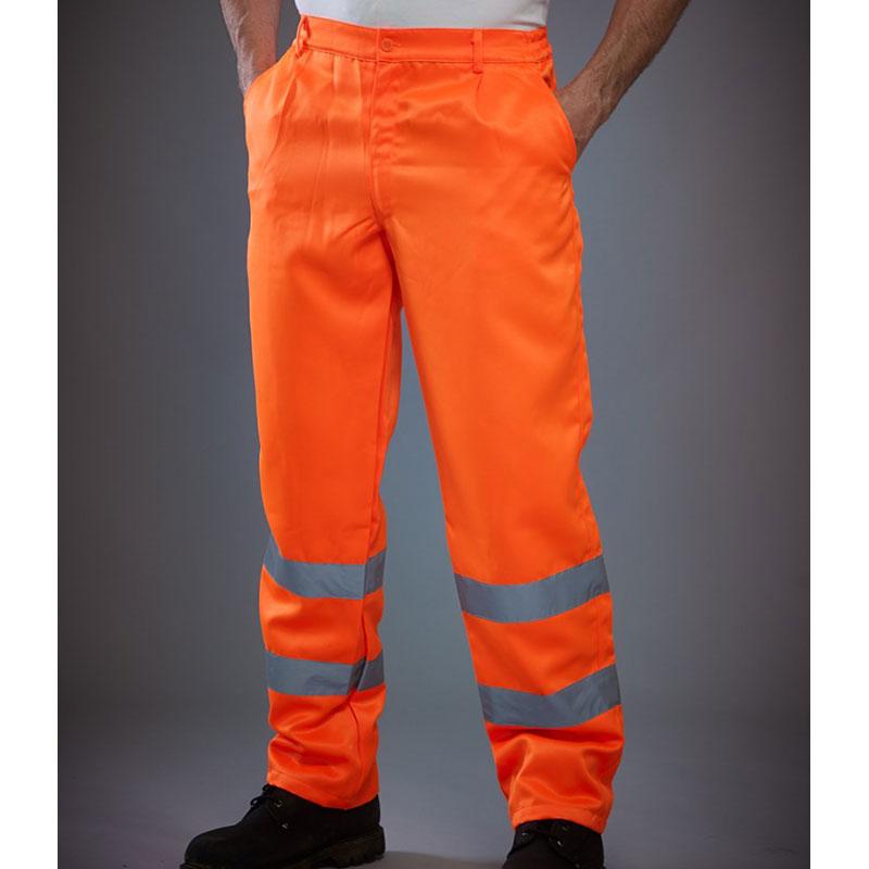 Yoko Hi-Vis Poly/Cotton Work Trousers