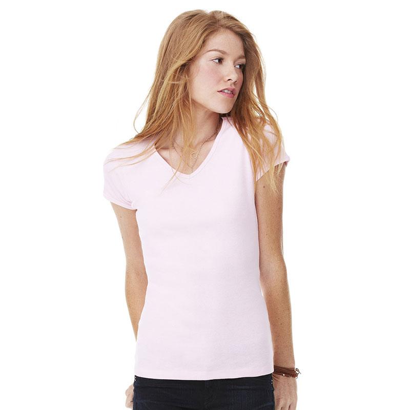 Bella Baby Rib V Neck T-Shirt