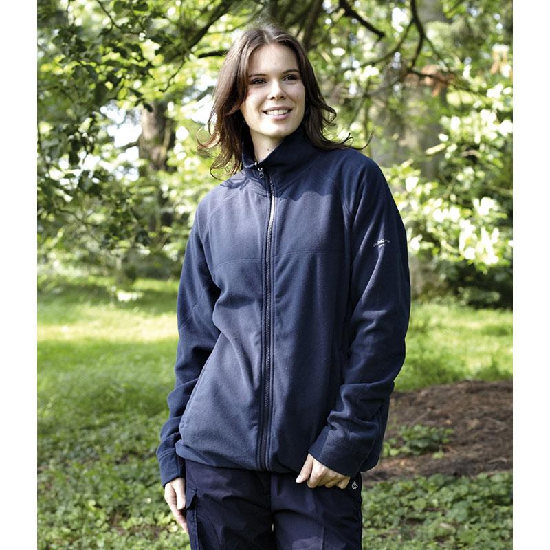 Craghoppers Mens Basecamp Micro Fleece Jacket Full Length Zip High Collar