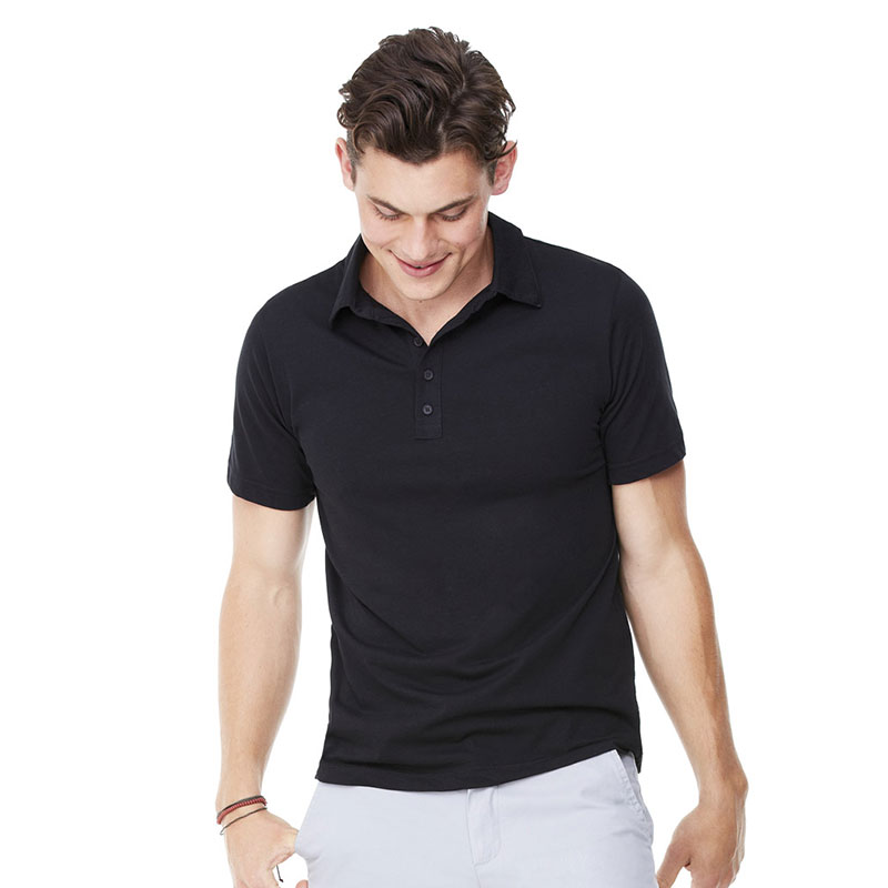 Canvas Jersey 5 Button Poly/Cotton Polo Shirt