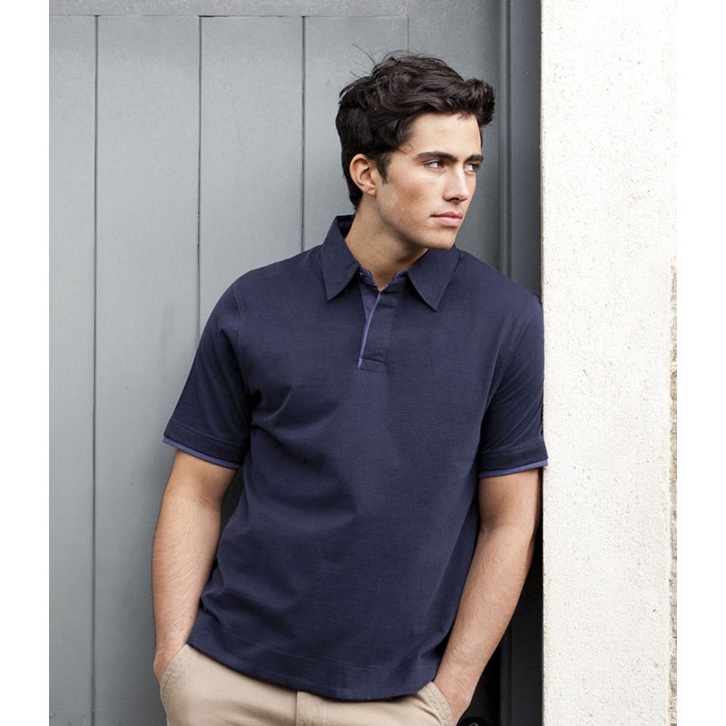 Front Row Collection Brushed Cotton Jersey Polo Shirt