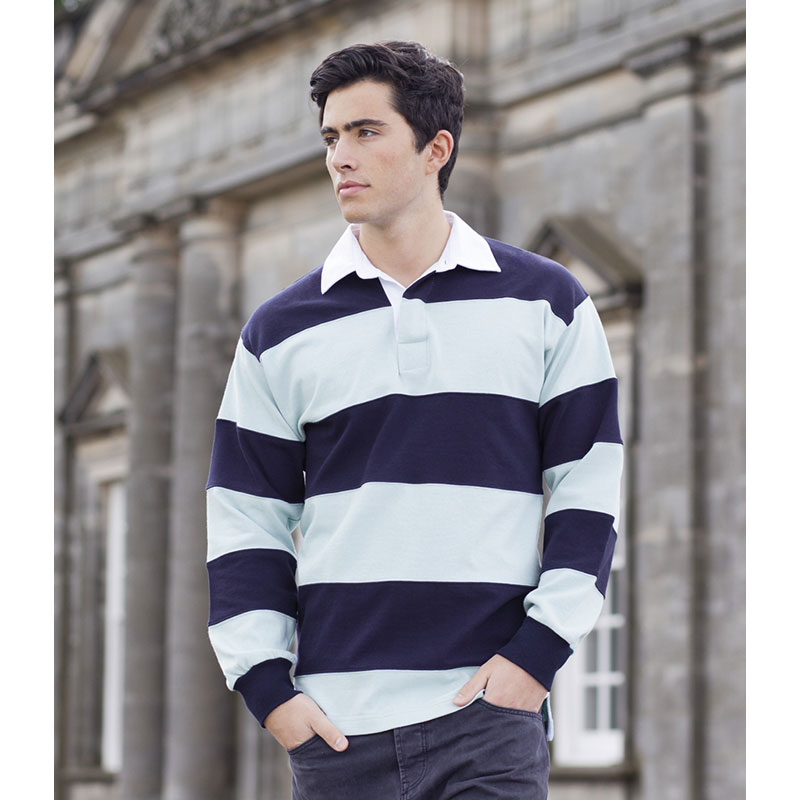 Front Row Sewn Stripe Rugby Shirt