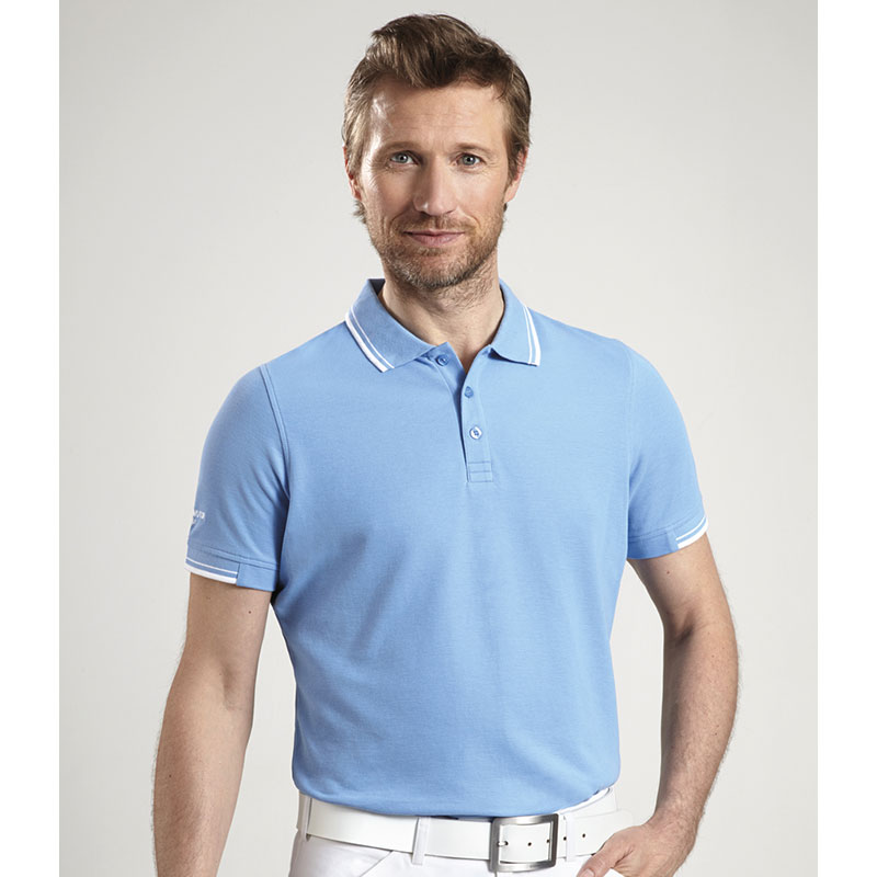 Glenmuir Tipped Pique Polo Shirt