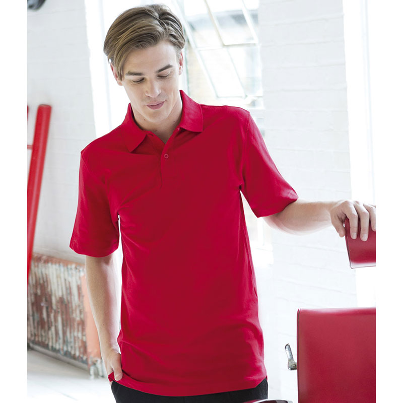 Henbury Stretch Cotton Pique Polo Shirt