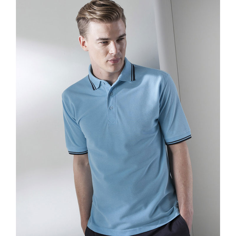 Henbury Contrast Tipped Pique Polo Shirt