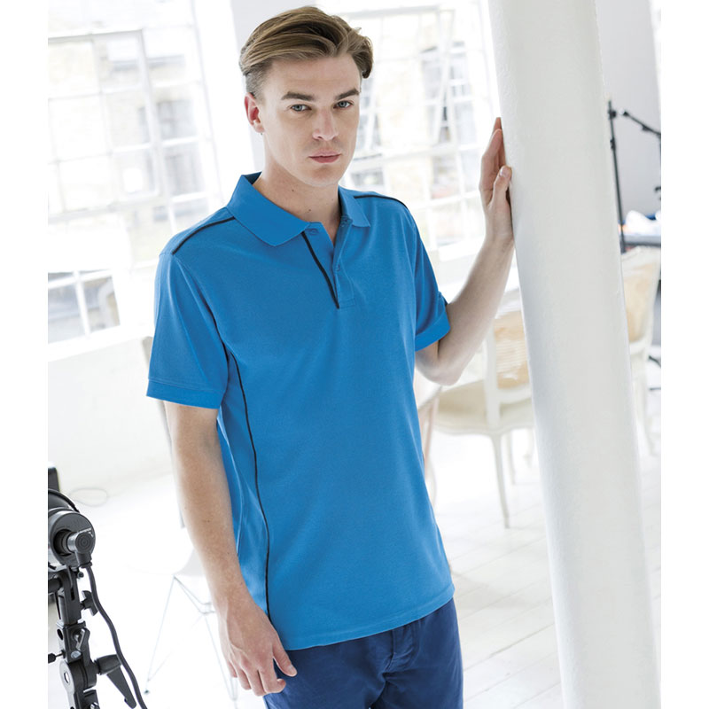 Henbury Coolplus® Anti-Bac Textured Polo Shirt