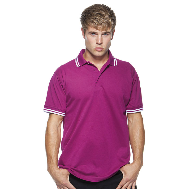 Kustom Kit Contrast Tipped Poly/Cotton Pique Polo Shirt