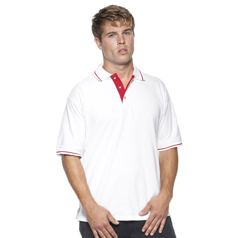 Kustom Kit St Mellion Tipped Cotton Pique Polo Shirt