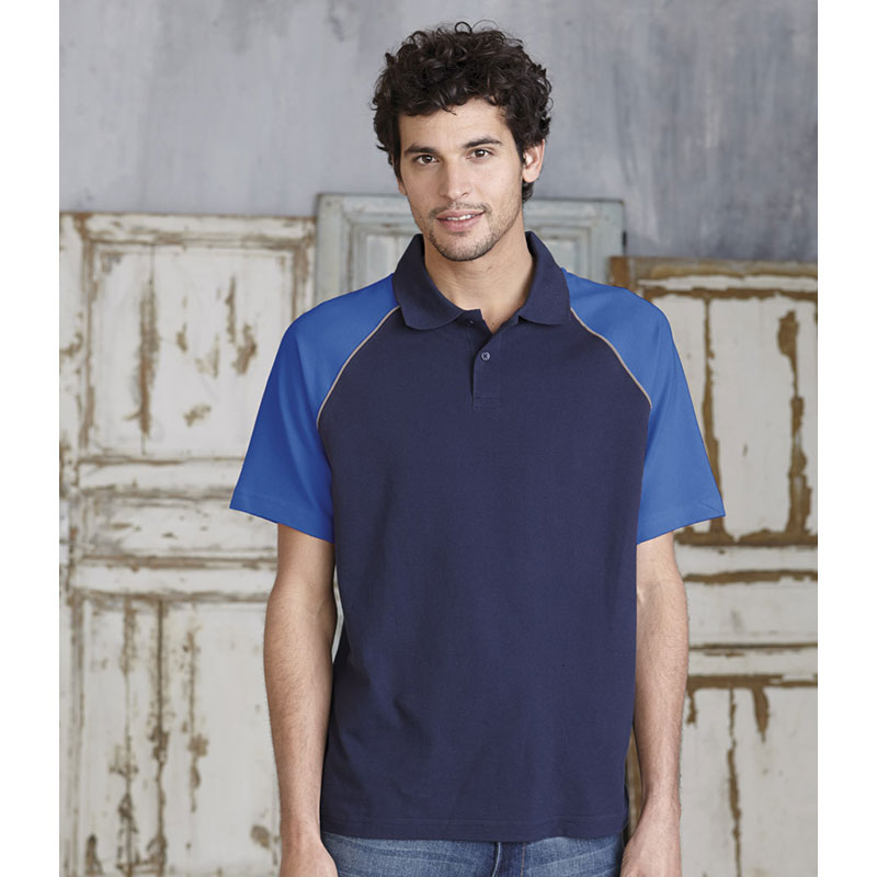 Kariban Baseball Cotton Pique Polo Shirt