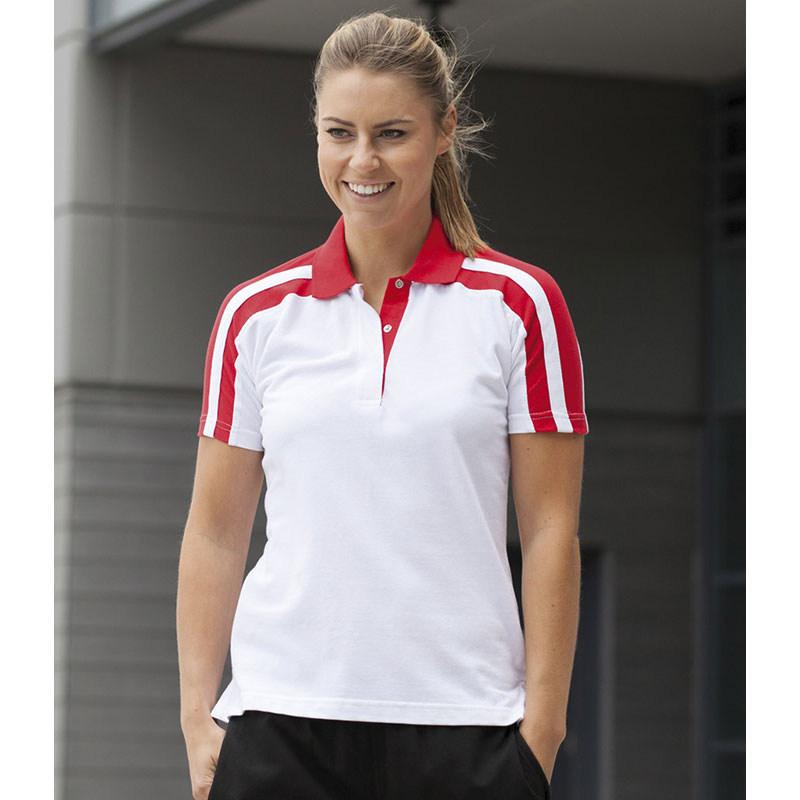 Finden & Hales Ladies Racing Cotton Pique Polo Shirt